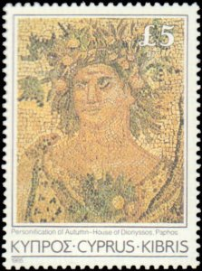 Cyprus #640-654, Complete Set(15), 1985, Art, Never Hinged