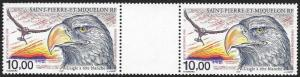St. Pierre et Miquelon (SPM) Scott Number C75 Gutter Pair VF NH