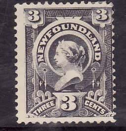 Newfoundland-Sc#60a- id10-unused no gum 3c gray lilac-QV-189