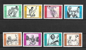 Rwanda MNH Set Of 8 Moscow Olympics 1980