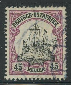 German East Africa 1906 45h Purple & Black Kaiser's Yacht Sc# 37 used