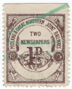 (I.B) Midland & Great Northern Joint Railways : Newspaper Parcel 1d
