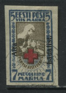 Estonia 1923 7 + 5 marks Semi-Postal used