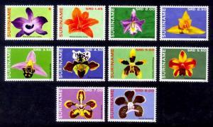 Suriname Sc# 1462-71 MNH Flowers 2014
