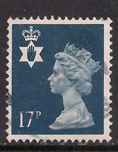 Northern Ireland GB 1990 QE2 17p Deep Blue SG NI 44 ( K93 )