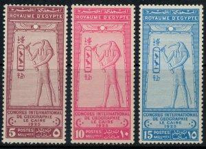 Egypt #105-7*  CV $56.00