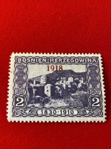 1918 Bosnia Stamp - Scott #126 Mint MH