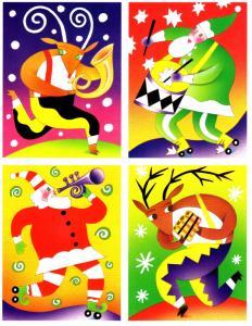 #UX401 - UX404 Music Makers Postal Card set/4  - Mint