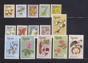 Uganda 115-129 Set MH Flowers