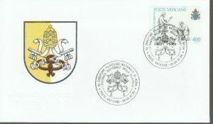 VATICAN POPE JOHN PAUL II COAT 1986 FDC R202061