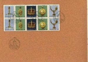 Sweden FD Book. With 10 Block. The Symbols of the Realm 1971