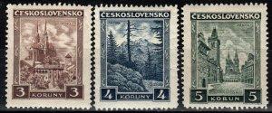 Czechoslovakia #165-7  F-VF Unused CV $18.75  (X265)