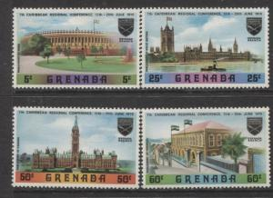 Grenada -Scott 362-65 -Carribean Conf.7th Issue -1970 -MLH-Set of 4 Stamps