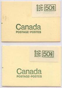 Canada - Centennial Booklets Large Stickers BK68a & BK68b