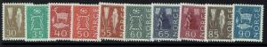 Norway SC# 421-430, Mint Lightly Hinged - Lot 090416