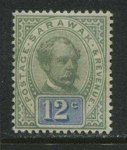 Sarawak 1887 12 cents mint o.g.