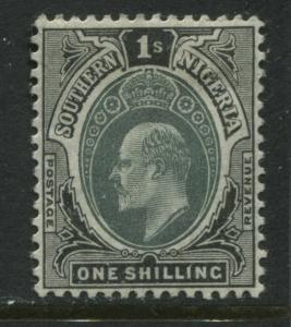 Southern Nigeria KEVII 1907 1/ on chalky paper mint o.g.