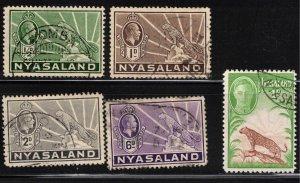 NYASALAND - 1934 King George V Symbol of Protectorate