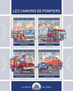 Z08 TG190118a TOGO 2019 Fire engines MNH ** Postfrisch