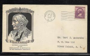US #784-36 Anthony Linprint cachet addressed