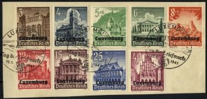 14436] German Occupation of Luxembourg, 33-41 fine used