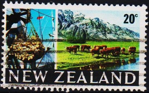New Zealand. 1967 20c S.G.876 Fine Used