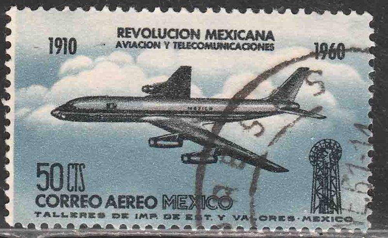 MEXICO C253, 50¢ 50th Anniv Mexican Revolution. USED. VF. (621)