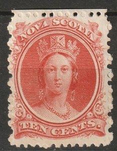 Nova Scotia 1860 Sc 12 MH* some disturbed gum