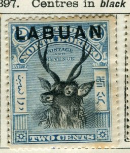 NORTH BORNEO LABUAN; 1897 classic Pictorial issue unused 2c. value