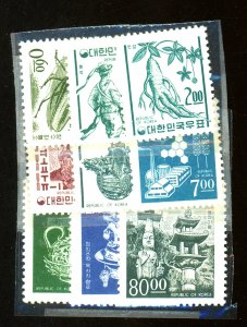 South Korea #516-25 MINT F-VF OG NH Cat $ 63.80