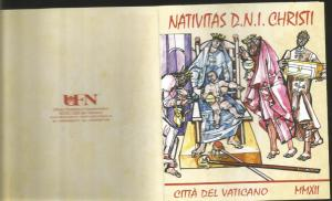RJ) 2012 VATICAN CITY, BOOKLET, CHRISTMAS, PASTORS, AMGELS, MNH
