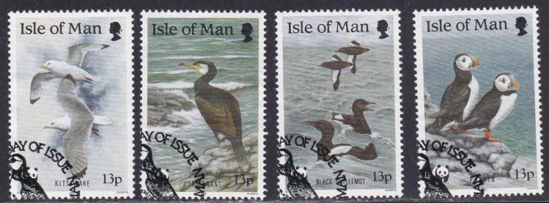 Isle of Man # 399-402, Puffins, Comorants Complete Set, Used