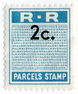 (I.B) Rhodesia Railways : Parcels Stamp 2c (unissued)