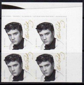 5009 block of 4 Elvis MNH  2015