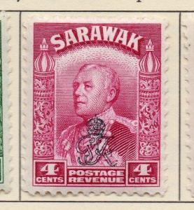 Sarawak 1947 ( stock ) Issue Fine Mint Hinged Optd 4c. 052020