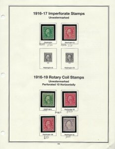 1916-1922 IMPERF AND COILS UNUSED SINGLES PLEASE SEE SCANS- SCV is $131.00 - W37