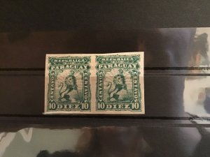 Paraguay 1887 mounted mint imperf  Stamps pair R23029