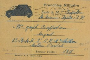 93142 - FRANCE - POSTAL HISTORY -  Military STATIONERY CARD feldpost 1940 CARS