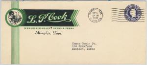 USA - POSTAL HISTORY - ADVERTISING STATIONERY COVER 1938 - Birds AGRICOLTURE