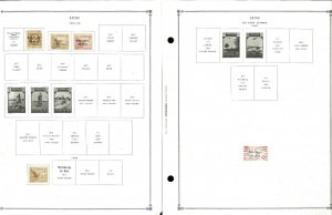 Ifni 1941-1968 All Mint JHinged on Scott International Pages.