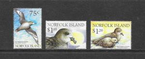 BIRDS - NORFOLK ISLAND #679-81  MNH