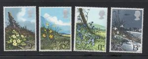 Great Britain Sc 855-8 1979 Wildflower stamp set mint NH
