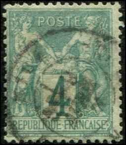 France SC# 66 Peace & Commerce 4c  Used  SCV $55.00