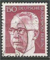 BERLIN, 1970, used 150pf Pres Heinemann Scott 9N299