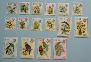 FIJI 305 - 320 BIRDS AND ORCHIDS MINT NEVER HINGED OG ** NO FAULTS EF fi989