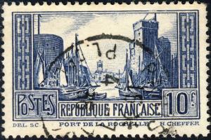 FRANCE - Yv.261 - 10fr La Rochelle T.III Oblitéré TB (Paris Pl. de la Bourse)