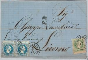 66018 - AUSTRIAN LEVANT -  POSTAL HISTORY -  COVER from CONSTANTINOPEL  1873