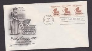 1902 Baby Buggy transportation coil Unaddressed ArtCraft FDC
