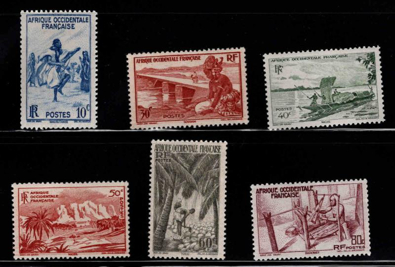 FRENCH West Africa SCOTT 36-41 MH* stamps