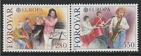 1985 Faroe Islands - Sc 125-6 - MNH VF - 2 single - Europa